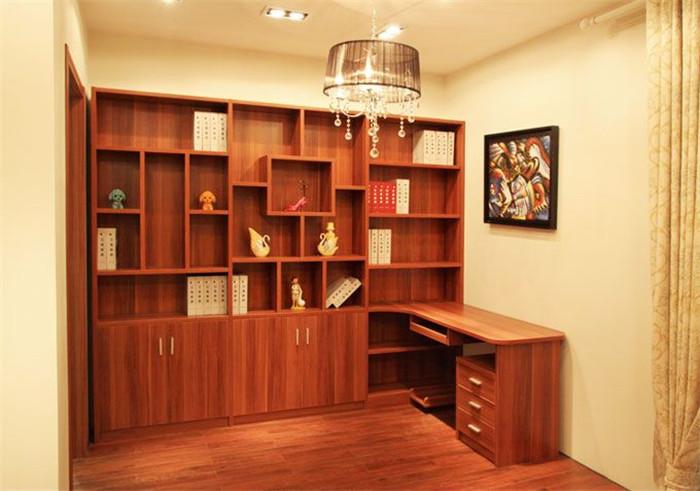 书柜带写字台